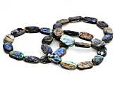 Abalone Shell Stretch Bracelet Set Of 3, 7.5 inch