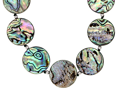 20mm Abalone Shell Sterling Silver 24