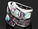 Abalone Shell Sterling Silver inlay Ring