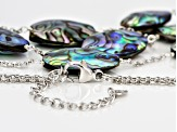 Abalone Shell Silver Multi-Strand Necklace 19 inch