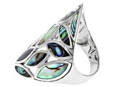 Marquise Abalone Shell Sterling Silver Ring