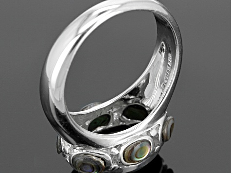 Abalone Shell Sterling Silver Ring