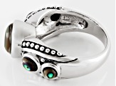 Abalone Shell Sterling Silver 5-Stone Ring