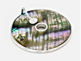 Multi Color Abalone Shell Sterling Silver Pendant