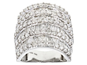 White Diamond Ring 10k White Gold 3.90ctw.