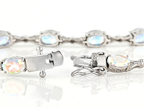 Multicolor Mercury Mist(R) topaz rhodium over silver bracelet 10.50ctw