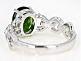 Green Chrome Diopside Rhodium Over Silver Ring .96ctw