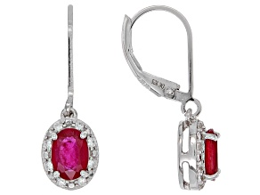 Red Mahaleo(R) ruby rhodium over silver earrings 2.35ctw