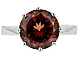 Red Labradorite Rhodium Over Sterling Silver Ring 3.56ct