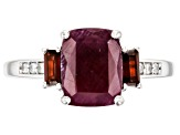 Red Ruby Rhodium Over Sterling Silver Ring 2.36ctw