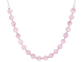 Pink kunzite sterling silver necklace