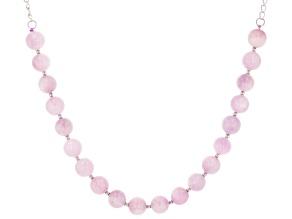 Pink kunzite sterling silver necklace