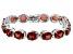 Red Labradorite Rhodium Over Sterling Silver Bracelet 15.90ctw