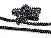 Black Spinel Endless Strand Bead Necklace 255.00ctw