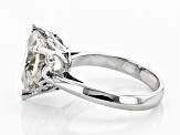 White Crystal Quartz Rhodium Over Sterling Silver Ring 4.75ct