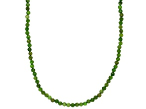 Green Chrome Diopside 14k Yellow Gold Necklace Approximately 80.00ctw