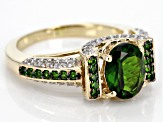 Green Chrome Diopside Ring 10k Yellow Gold Ring 2.64ctw