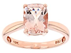 Pink morganite 10k rose gold ring 1.50ctw