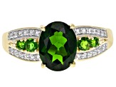 Green Chrome Diopside 10k Yellow Gold Ring 2.01ctw.
