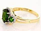 Green Chrome Diopside 10k Yellow Gold Ring 2.21ctw.