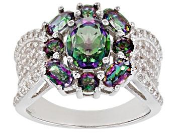 Picture of Multi-Color Quartz Rhodium Over Sterling Silver Ring  3.21ctw