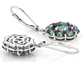Multi-color Quartz Rhodium Over Sterling Silver Earrings 4.18ctw
