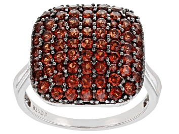 Picture of Vermelho Garnet™ Rhodium Over Sterling Silver Ring 2.05ctw