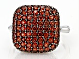 Red Garnet Rhodium Over Sterling Silver Ring 2.05ctw