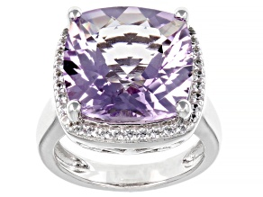 Lavender Amethyst Rhodium Over Sterling Silver Ring 8.53ctw