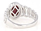 Pink Tigers Eye Rhodium Over Sterling Silver Ring