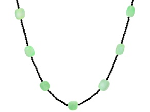 Green Opal Endless Strand Beaded Necklace.