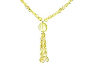 Yellow Quartz Beaded Necklace