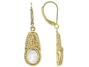 Rainbow Moonstone 18K Yellow Gold Over Sterling Silver Earrings 1.99ctw