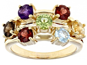 Sky Blue Topaz 18k Yellow Gold Over Sterling Silver Ring 1.70ctw