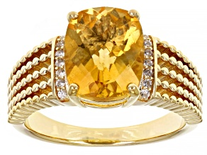Yellow Citrine 18K Yellow Gold Over Sterling Silver Ring. 2.58ctw