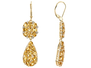 Yellow Citrine 18K Yellow Gold Over Sterling Silver Earrings 5.44ctw