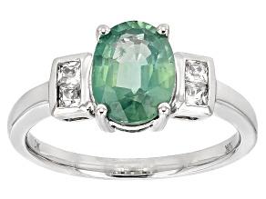 Green Mint Kyanite 10k White Gold Ring 1.98ctw