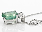 Green Mint Kyanite 10k White Gold Pendant With Chain 1.84ctw