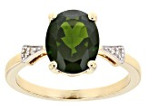 Green Chrome Diopside 10k Yellow Gold Ring 2.68ctw.