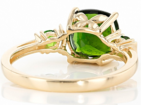 Green Chrome Diopside 10k Yellow Gold Ring 2.29ctw.