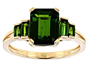 Green Chrome Diopside 10k Yellow Gold Ring 2.55ctw