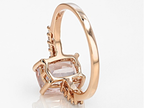 Pink Morganite 10k Rose Gold Ring 2.15ctw