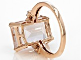 Pink Morganite 10k Rose Gold Ring 6.12ctw