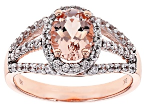 Pink Morganite 10k Rose Gold Ring 1.50ctw