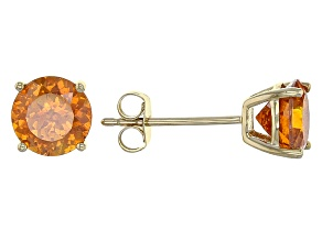 Orange Sphalerite Stud Earrings 1.92ctw