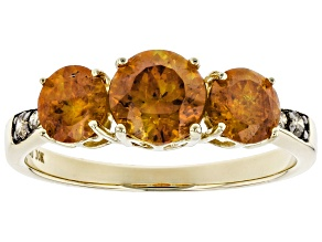 Orange Sphalerite 10K gold Ring 2.01ctw