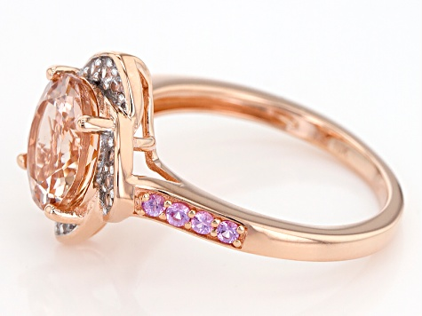 Pink Morganite 10k Rose Gold Ring 2.32ctw