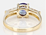 Blue Tanzanite 10k Yellow Gold Ring 1.46ctw.