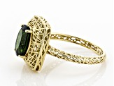 Green Chrome Diopside 10k Yellow Gold Ring 2.21ct