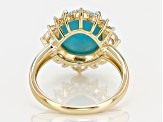 Blue Turquoise 10k Yellow Gold Ring 1.14ctw